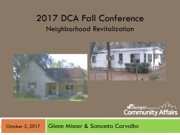 2017 DCA Fall  Conference