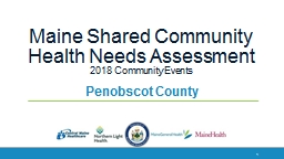 Maine Shared Community Health Needs Assessment