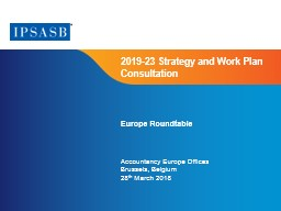 2019-23 Strategy and Work Plan Consultation