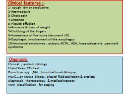 Clinical features :-