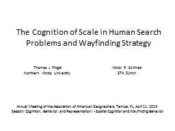 The Cognition of Scale in Human Search Problems and