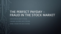 The perfect payday -