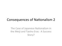 Consequences of Nationalism 2
