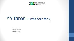 YY  fares  –  what