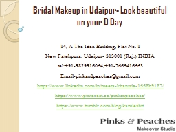 Bridal Makeup in Udaipur- Look beautiful on your D Day