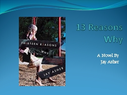 13 Reasons  Why  A Novel By