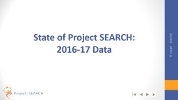 State of Project  SEARCH: 2016-17 Data