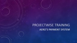 ProjectWise Training