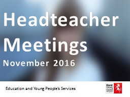 Headteacher Meetings