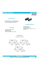 Low profile package Standard pin configurations ICpin