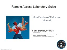 Remote Access Laboratory Guide