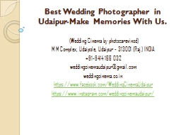 Best Wedding Photographer in Udaipur-Make Memories With Us.