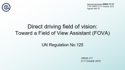 Direct driving field of vision: