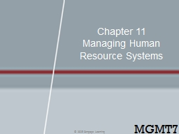 Chapter 11  Managing Human Resource Systems