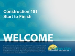 Construction 101  Start to Finish
