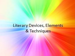 Literary Devices, Elements