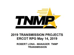 2019 TRANSMISSION PROJECTS