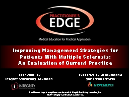 Sponsored by  Integrity Continuing Education