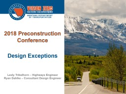 2018 Preconstruction Conference