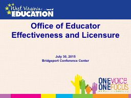 Office of  Educator Effectiveness and Licensure
