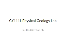 GY111L Physical Geology Lab