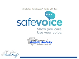 Introduction to  SafeVoice
