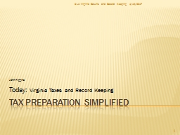 Tax Preparation Simplified