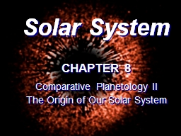 Solar System CHAPTER 8