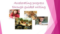 Accelerating progress through guided writing