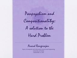 Panpsychism  and Compositional