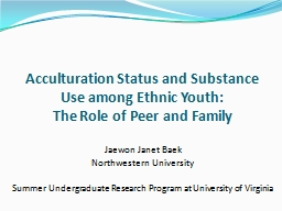 Acculturation Status and