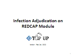 Infection Adjudication on REDCAP Module