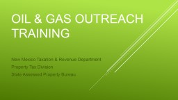 Oil & gas outreach & training