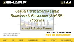 Sexual Harassment/Assault Response & Prevention (SHARP) Program