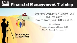 Integrated Acquisition System (IAS) and Treasury's