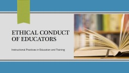 Ethical Standards for Educators