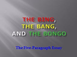 The Bing ,   The Bang
