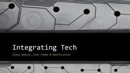 Integrating Tech Cloud Spaces, Chat rooms & Gamification
