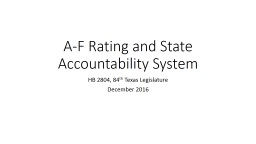 A-F Rating and State Accountability System