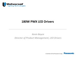 Kevin Boyce Director of Product Management, LED Drivers