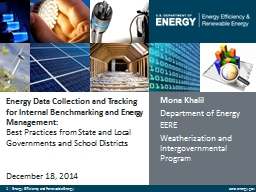 Energy Data Collection and Tracking for Internal