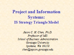 Project and Information Systems:
