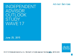 INDEPENDENT ADVISOR OUTLOOK STUDY