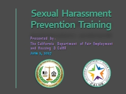Sexual Harassment Prevention Training