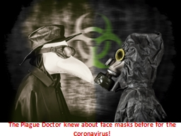 The Plague Doctor knew about face masks before for the Coronavirus!