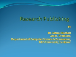 Research Publishing