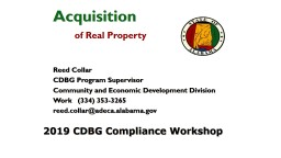 2019 CDBG Compliance Workshop