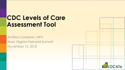 CDC Levels of Care Assessment Tool