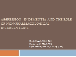 Aggression in Dementia and the Role of