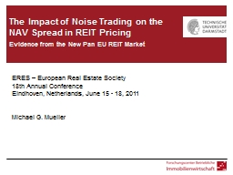 The  Impact of Noise Trading on the